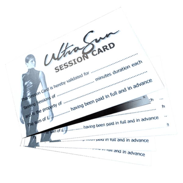 Sunbed Session Card